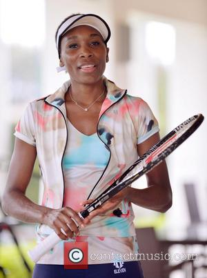 Venus Williams - Venus Williams visits charitable organisation First Serve Miami (FSM) to meet kids who are interested in learning...
