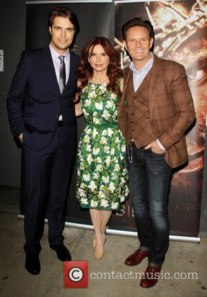Diogo Morgado and Roma Downey. Mark Burnett - 'The Bible Experience' Opening Night Gala at The Bible Experience - New...