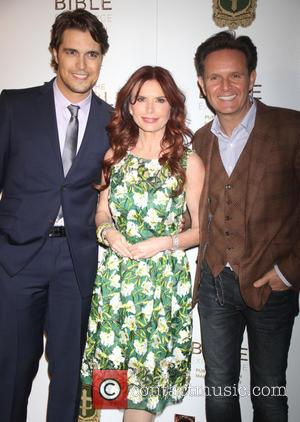 Diogo Morgado, Mark Burnett and Roma Downey - 'The Bible Experience' Opening Night Gala at The Bible Experience - New...