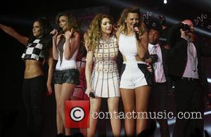 Kimberley Walsh, Nadine Coyle, Sarah Harding, Nicola Roberts, Cheryl Cole and Girls Aloud - Girls Aloud performing live penultimate night...