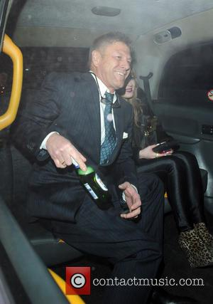 Sean Bean and Molly Bean - Sean Bean leaves the Groucho Club with his daughter Molly.Sean takes his beer into...