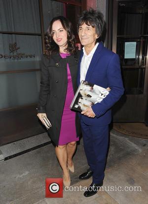 Ronnie Wood and Wife Sally Humphreys