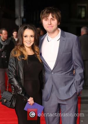 James Buckley with wife Clair Meek - 'Trance' World premiere held at Odeon West End - Arrivals - London, United...