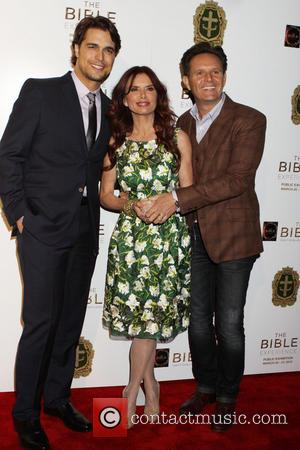 Diogo Morgado, Roma Downey and Mark Burnett - 'The Bible Experience' Opening Night Gala at The Bible Experience - New...