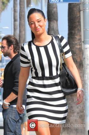 Tulisa Contostavlos - Tulisa seen leaving Aroma for lunch with a friend - Los Angeles, CA, United States - Wednesday...