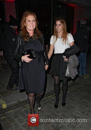Sarah Ferguson, Duchess of York and Princess Beatrice - Celebrities at Downtown Mayfair restaurant for Heather Kerzner's birthday celebration -...