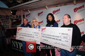 Nana Meriwether and Jenny McCarthy - Jenny McCarthy hosts 'It's A Ravioli Rivalry' with New York City's First Responders at...