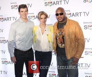 Flo Rida, Kate Upton and Eli Manning