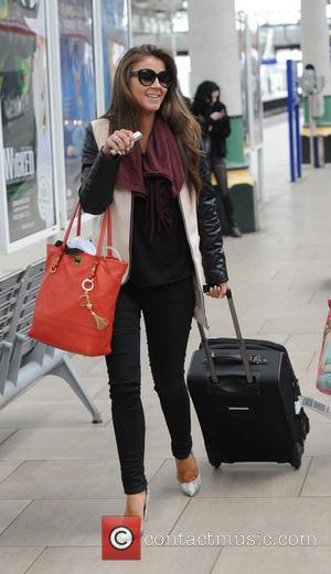 Brooke Vincent - Celebrities at Manchester Train Station returning after last nights RTS awards in London - Manchester, United Kingdom...