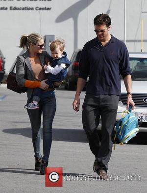 Ali Larter, Hayes MacArthur and Theodore Hayes MacArthur - Ali Larter seen with husband Hayes MacArthur and their son Theodore...