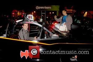 Antonio Sabato Jr. in the Batmobile - The Batman Product Line Launch at the Meltdown Comics on March 21, 2013...