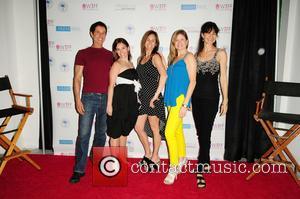 Amy Jo Johnson, Jana Saunders, ulie Johnson, Stephanie Heil and Miranda Saunders - Screening of the short film 'BENT' during...