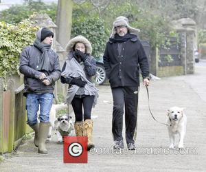 George Michael - George Michael spotted out walking his dog with his friends in London - London, United Kingdom -...