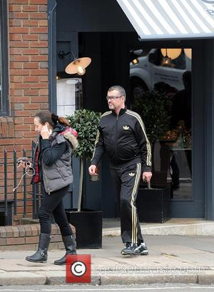 George Michael - George Michael and a friend seen leaving Cote Brasserie in north London after having lunch. George wears...