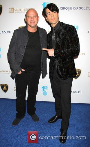Criss Angel and Guy Laliberte