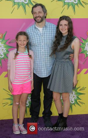 Judd Apatow with daughters - Nickelodeon's 26th Annual Kids' Choice Awards at USC Galen Center - Arrivals - Los Angeles,...