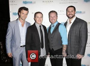 Kent Speakman, Br, t Weisman, Jason Stecker and Mike Kahn - The red carpet launch party for 'Fameus' Smart Phone...