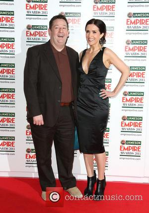 Johnny Vegas with his wife Maia Dunphy - Jameson Empire Film Awards held at Grosvenor House - Arrivals - London,...