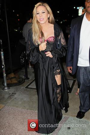 Adrienne Maloof - Adrienne Maloof and Sean Stewart leaving a party at The El Rey Theatre - Los Angeles, California,...