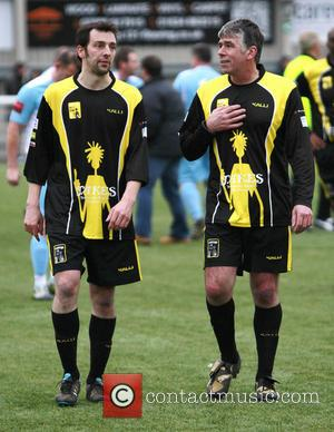 Ralf Little - Ralf Little playing for the Lashings All-Stars in a charity football match against Maidstone United Legends at...