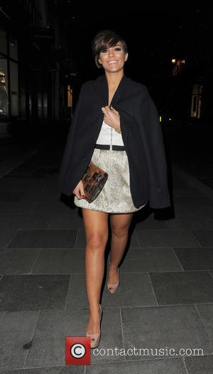 Frankie Sandford - Frankie Sandford from girl group The Saturdays enjoys a night out at Amika nightclub in Mayfair with...