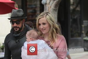 Rochelle Karidis, Ava McLean and A.J. McLean - Backstreet Boys star A.J. McLean along with his wife  Rochelle and...