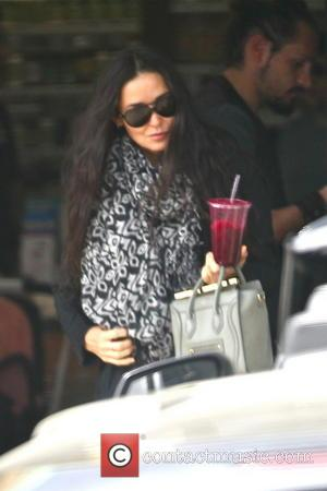 Demi Moore - Demi Moore out shopping in West Hollywood with a health shake - Los Angeles, CA, United States...
