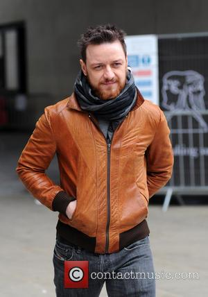 James McAvoy - Celebrities at the BBC Radio 1 studios - London, United Kingdom - Monday 25th March 2013