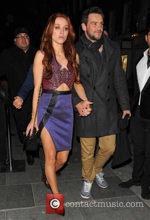 Una Healy and Ben Foden - The Saturdays No.1 celebration party at Amika for their first number 1 single in...