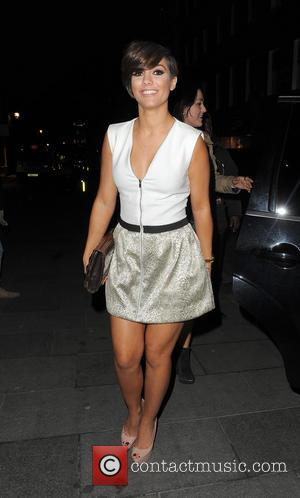 Frankie Sandford of The Saturdays - The Saturdays enjoys a night out at Amika nightclub in Mayfair with the rest...