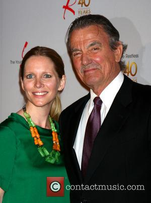 Lauralee Bell and Eric Braeden - 40th anniversary of 'The Young & The Restless' held at the CBS Television City...