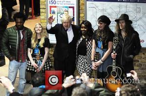 Boris Johnson and Misha Bryan