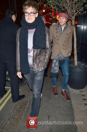 Tom Fletcher and Dougie Poynter - Celebrities on a night out at The Ivy Restaurant - London, United Kingdom -...