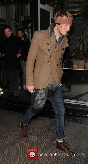 Dougie Poynter - Boyband Mcfly leave the Ivy club after a night out - London, United Kingdom - Wednesday 27th...