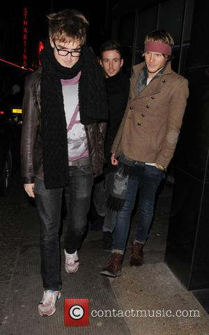 Tom Fletcher, Harry Judd and Dougie Poynter - Boyband Mcfly leave the Ivy club after a night out - London,...