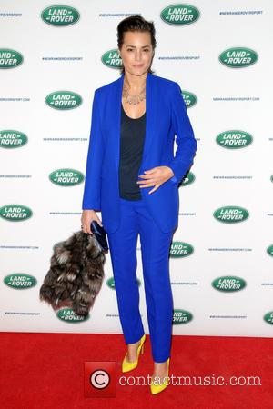 Yasmin Le Bon - The Range Rover Sport world unveiling at the 2013 New York Auto Show at Skylight at...