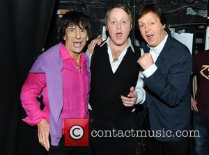 Ronnie Wood, James Mccartney and Paul Mccartney