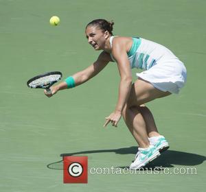 Sara Errani - Sara Errani (ITA) loses to Maria Sharapova (RUS) 7-5, 7-5 at the Sony Open being played at...