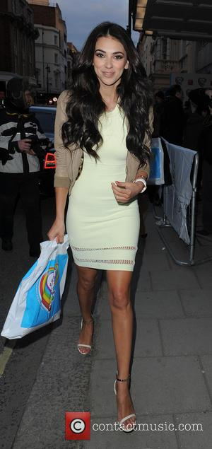 Georgia Salpa - The Health Lottery reception with Simon Cowell held at Claridge's - Departures - London, United Kingdom -...