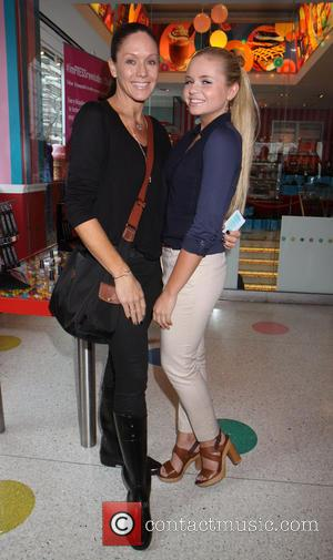 Alli Simpson and mother - Australian Alli Simpson sister of Cody Simpson at her imPRESS nail launch at Dylans Candy...