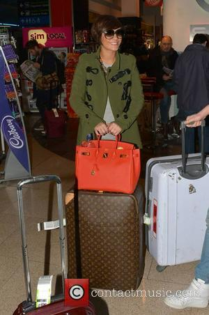 Frankie Sandford - The Saturdays arrive at Dublin Airport without Rochelle Wiseman ahead of their concert at the Bord Gais...