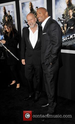 Bruce Willis and Dwayne Johnson - G.I. Joe: Retaliation LA premiere, helt at the Grauman's Chinese Theatre - Arrivals -...