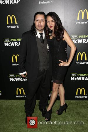 Efren Ramirez and guest - McDonald's Premium McWrap Launch Party held at Paramount Pictures Studios - Arrivals - Hollywood, California,...