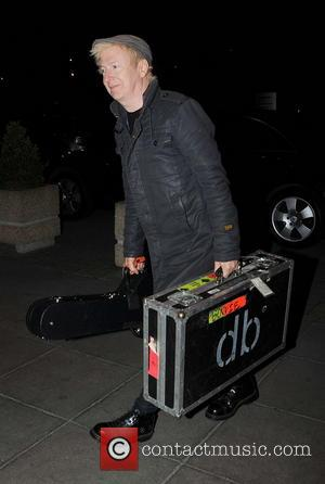 Gerry Leonard (David Bowie guitarist) - Guests arrive at RTE studios for 'The Saturday Night Show' - Dublin, Ireland -...
