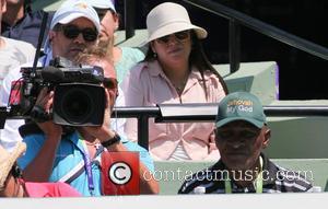 Richard Williams - Sony Open Women's Final Maria Sharapova (RUS) vs Serena Williams (USA) at Crandon Park Tennis Center Key...