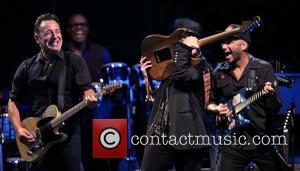 Bruce Springsteen, Nils Lofgren and Tom Morello