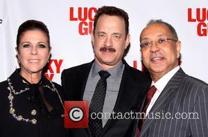 Rita Wilson, Tom Hanks and George C. Wolfe