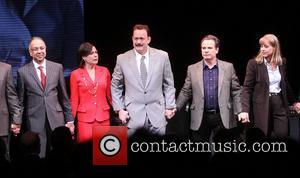 George C. Wolfe, Maura Tierney, Tom Hanks, Peter Scolari and Deirdre Lovejoy