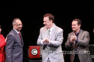 George C. Wolfe, Tom Hanks and Peter Scolari