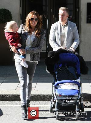 Danielle Lloyd, Danielle O'Hara, Jamie O'Hara and Harry James O'Hara - Celebrities outside the May Fair Hotel - London, United...
